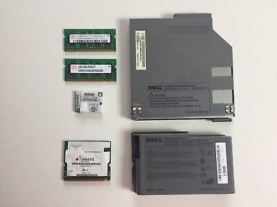 Dell Latitude D610 Parts Battery 1GB RAM Modem Keyboard DVD/CD FAST - D610 Cd