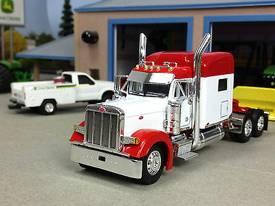 "1/64 DCP WHITE/RED 379 PETERBILT W/ 70"" SLEEPER"