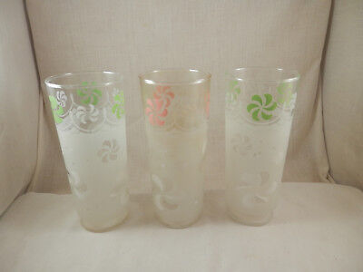 Vintage Frosted Tall Iced Tea Glass 7