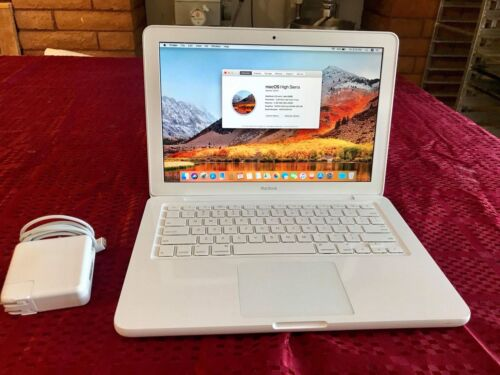 "Apple MacBook White 13"" Late 2009, 250GB,2GB, New OS X High Sierra"