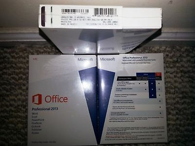 Microsoft Office 2013 Professional 32/64-bit W/CD and Key NEW SEALED!@