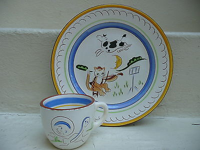Stangl Kiddieware Cat and the Fiddle Plate and Cup