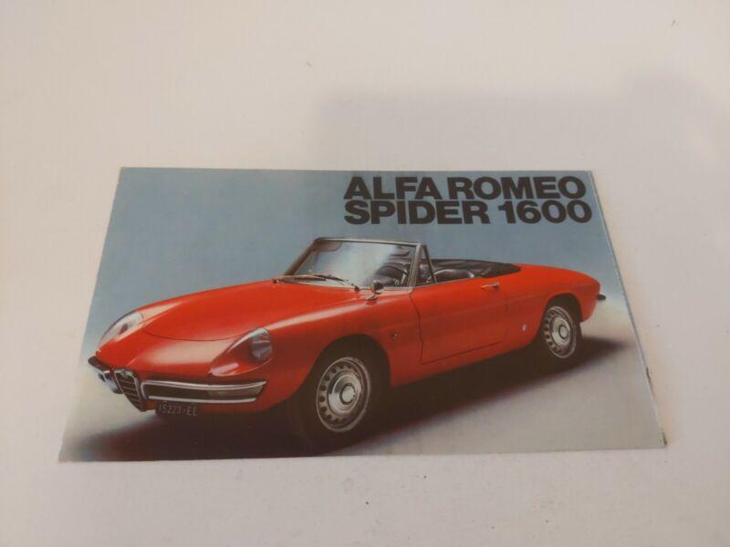 1966 Alfa Romeo Spider 1600 Showroom Advertising Sales Brochure Convertible