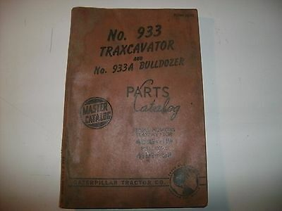 Vintage Cat Caterpillar 933 Traxcavator Master Parts Catalog Bulldozer 933a