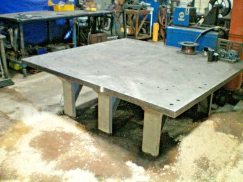 "Extra Heavy Duty 2"" Thick Top Steel Fabrication Table 75"" x 70"""