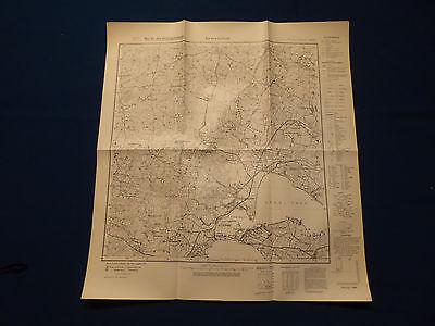 Landkarte Meßtischblatt 1023 Gravenstein / Gråsten, Schleswig, heute Dänemark