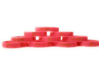 THE FLASH Bracelets Kids Birthday Party Favors - GLOW IN THE DARK (10 pack) - Cheap Party Supply