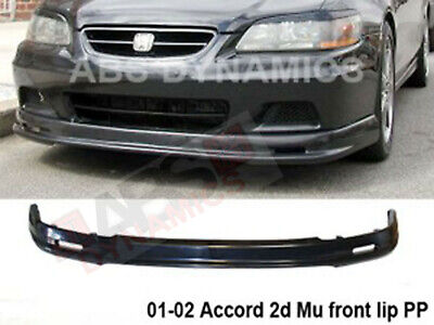 Mugen Style Front Lip for 2001 2002 Honda Accord Unpainted Black Polyproplyene (Mugen Style Front Lip)
