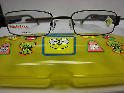 NICKELODEON NIC SPONGE BOB 0B02  CHOCOLATE 45-17-125  Eyeglass Frames New  - Sponge Bob Chocolate