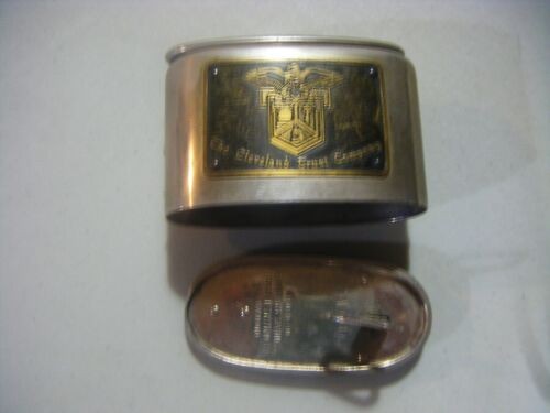 Vintage Cleveland Trust Co Coin Bank with Key Working Eagle Front Plate