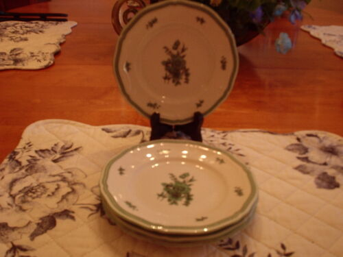 Rosenthal- Green Bloom- Bread and Butter Plates- Set of 4