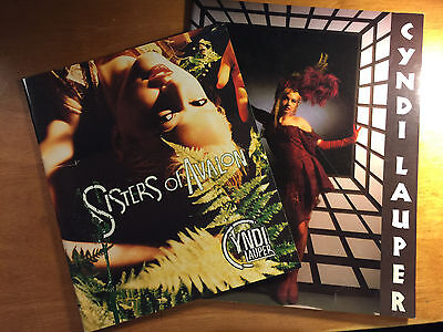 Cyndi Lauper TWO Tour Books - True Colors '86 & Sisters of Avalon - OUT PRINT