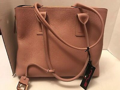 New with Tags Innue Blush Pebble Center Zip Triple Compartment Tote
