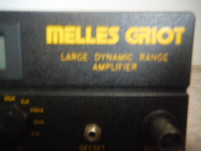 Melles-griot Large Dynamic Range Amplifier