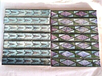 14 vintage border tiles,