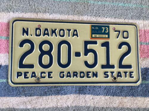 1970 1973 North Dakota License Plate 280 512