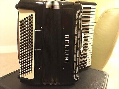 Accordion, Bellini 120-Bass 41-Slender-Key 3-Treble Switch Black Piano Accordion