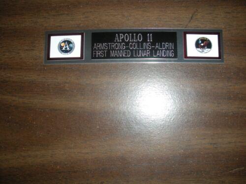 APOLLO 11 (NASA) ENGRAVED NAMEPLATE FOR PHOTO/DISPLAY #2