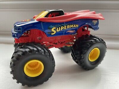 Hot Wheels Monster Jam Truck Superman Excellent Condition 1/64