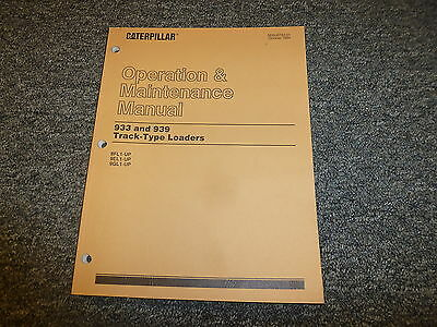 Cat Caterpillar 933 939 Track Type Loaders Owner Operator Maintenance Manual
