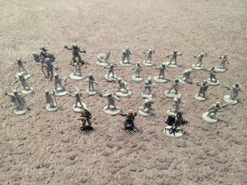Vintage Lot of 34 Unpainted Ral Partha, Grenadier, RPG Miniatures, D&D Figures