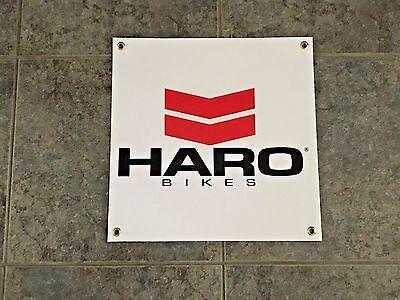 Haro Bikes banner sign shop wall garage bmx mountain bike biking trail ramp jump