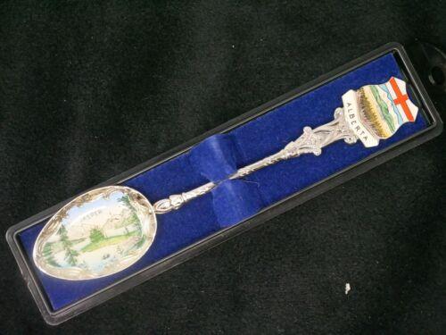 Vintage Jasper Alberta Enamel Souvenir Spoon. Beautiful.