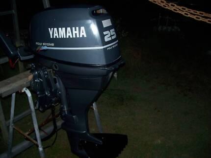 YAMAHA 4 STROKE 25 HP WITH TRIM AND TILT