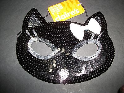 EYE MASK  Black with White Bow  KITTY Mask  Claire's  Halloween/Dress - Up   NWT (White Eye Mask Halloween)
