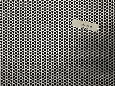 Painted Steel Perforated Sheet 16 Ga.11x10 18 Holes-316 Stagger Cxc