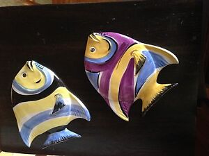 Fish wall mount ceramic