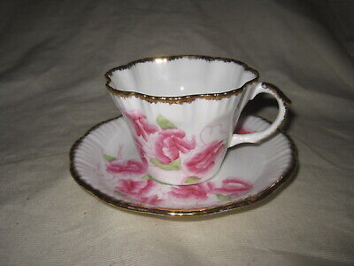 Salisbury Bone China c Sweet Pea Vintage Tea Cup and Saucer 1930/'s-1940/'s Made in England