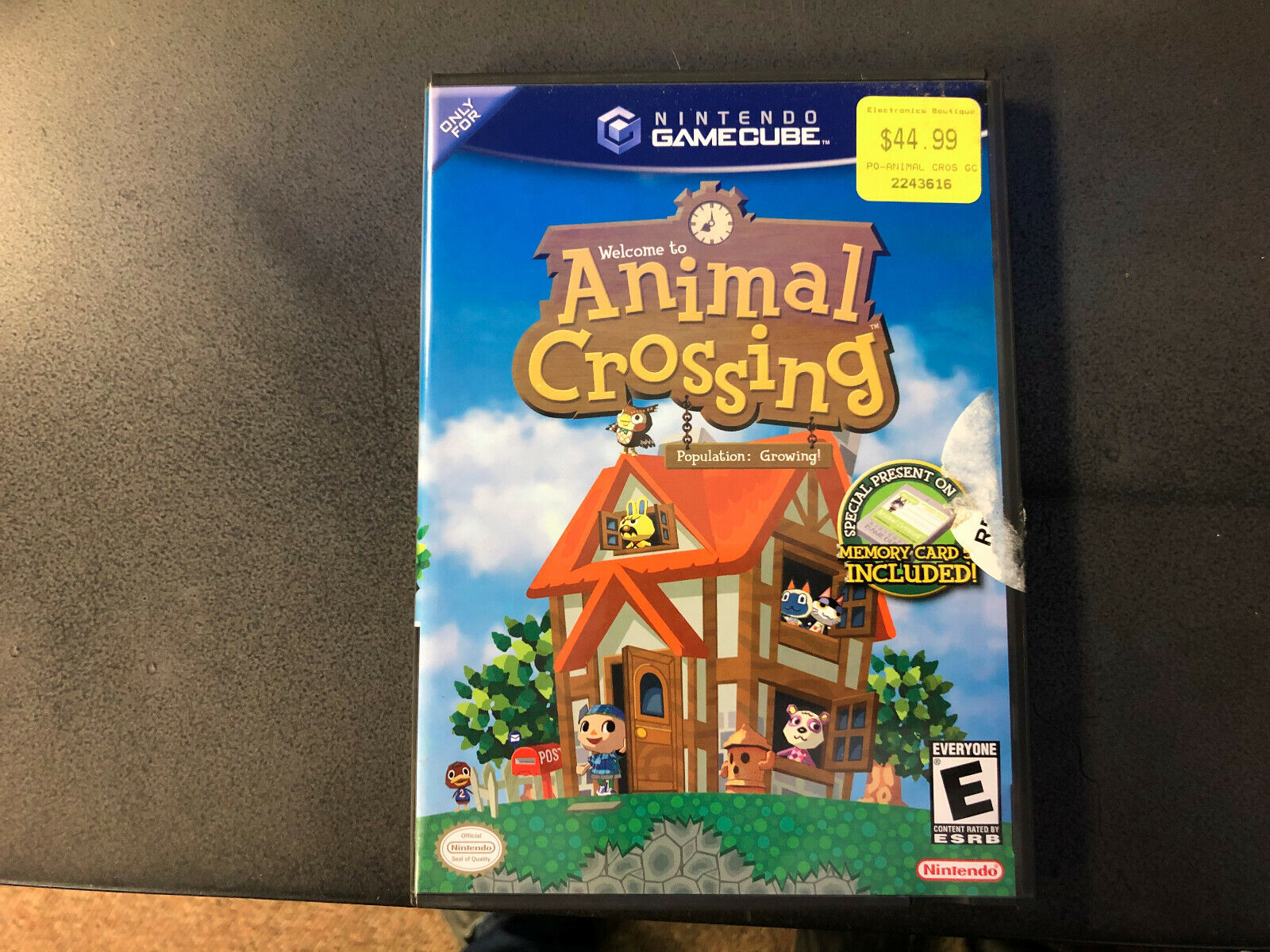Animal Crossing Nintendo GameCube, 2002 Black Label With Memory Card CIB RARE - $72.00