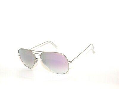Ray Ban 3025 019/7X 58 Matte Silver Violet Mirror  Aviators Sale (Ray Ban 3025 Sale)