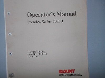 Prentice Series 630fb Operators Manual Hydro Ax