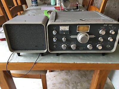 Vintage KW202 Vintage Valve Ham Radio Receiver with external speaker