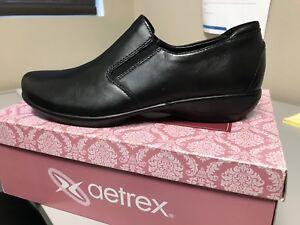 Aetrex Cassie women's shoes size 10 black