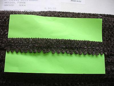 5m Wollborte 0,50€/m braun 1,8cm breit K10.1