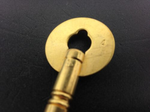 or .128 inches Brass Clock Key Size 4 or 3.2 mm
