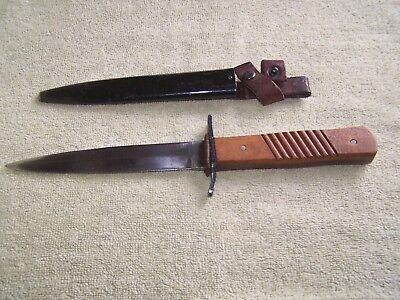 German  WWI  Trench Knife    DEMAG Duisburg    scabbard   original