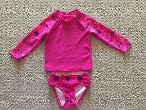 Swim suit for toddler girl, 2 piece, pink, size 2T