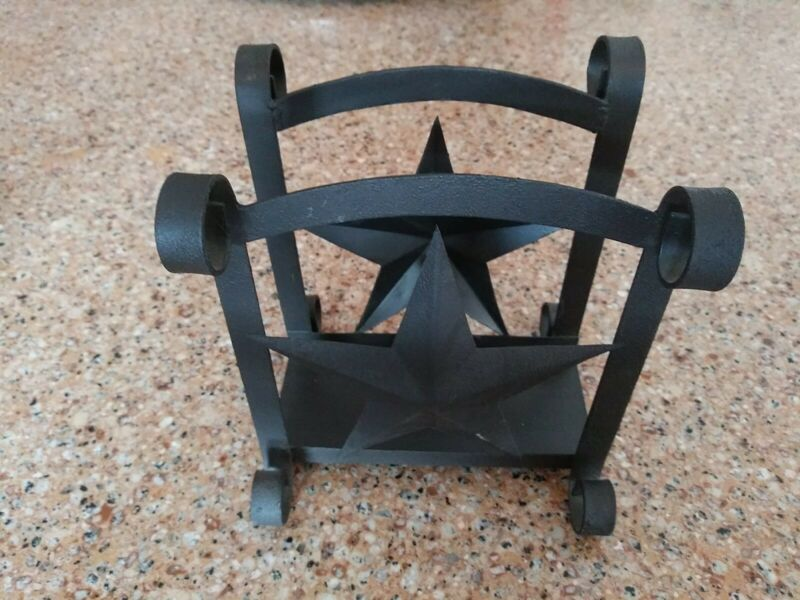 Distressed Country Star Napkin Holder Kitchen Farmhouse Decor Dining