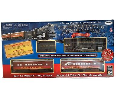 North Pole Express Christmas Train Set Battery Operated Classic Toy - NEW