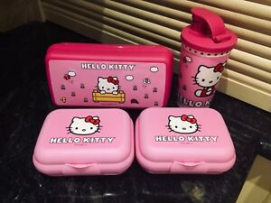 Hello Kitty Tupperware Containers