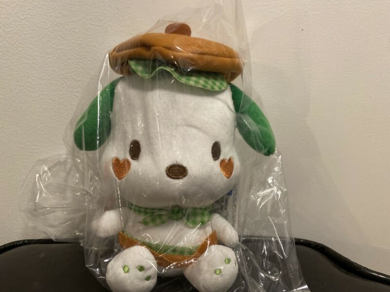 Sanrio Pochacco Gingham Cafeteria Doll Plush