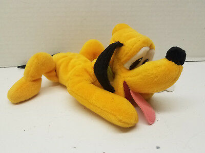 "Mouseketoys Disney Pluto Bean Bag Stuffed Animal Dog Plush 8"" Gift w Tag"