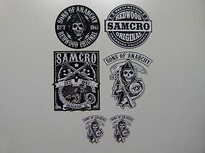 6x Motorrad Aufkleber SOA Sons of Anarchy Samcro Club Biker Outlaw 1%...