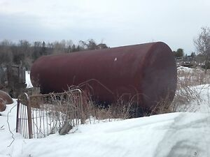 large single wall steel fuel tank