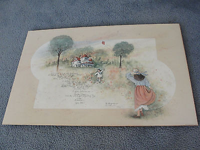 """""""SALE""""-A Bit Old Fashioned- Limited Edition Signed 1997 Art Print by D.MORGAN."""