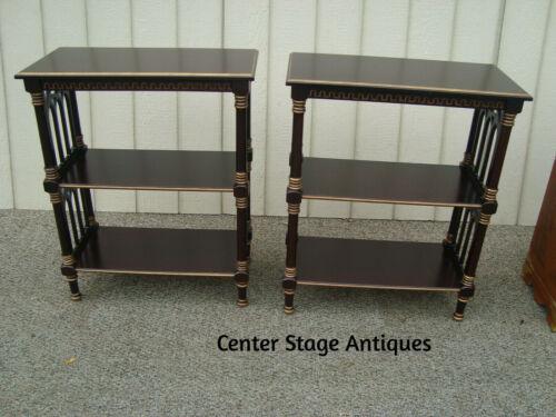 60346  Pair BOMBAY Gothic Curio Bookcase Shelves Shelf Cabinet